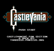 Castlevania - Fan Edition Title
