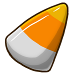 Inverted candy corn