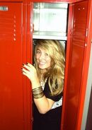 Hiding in the locker