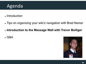 Message Wall & Wiki Nav Slide12