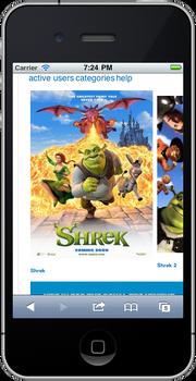 WikiShrek mobile before