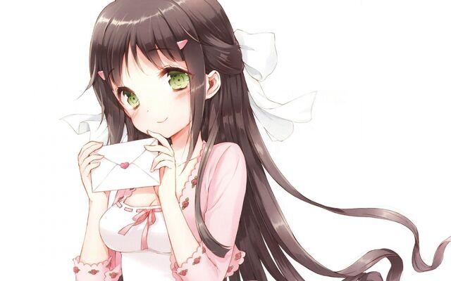 File:Long-Hair-Green-Eyes-Blush-ANime-Girls-Letter-White-Background-Black-Hair-Tsuruma-Konoe-Kono-Naka-Ni.jpg