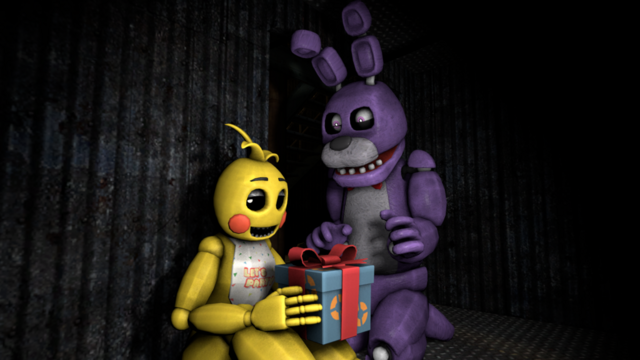 File:Sfm fnaf toy chica x bonnie by pft production-d8gog45.png