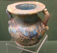 Glazed Roman Period Egyptian pottery vessel REM