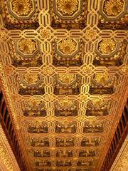 La Aljafería - Sala del trono - Techumbre.JPG