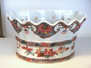Jingdezhen soft paste porcelain flower holder Famille Rose 1736 1796 Qianlong period