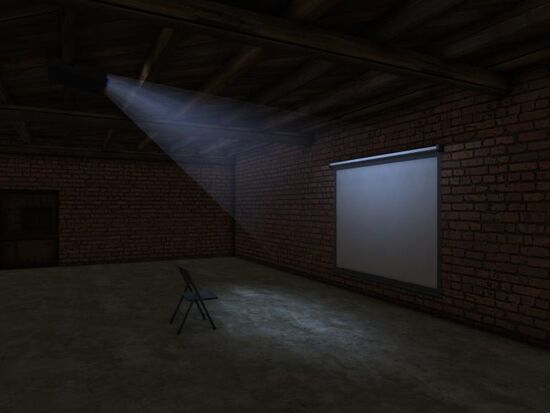 Basement - Wall Detail - Mom's - Projector