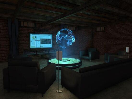 Basement - Social Area - Tech - Holographic Globe