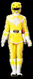 Skirted version of Yellow Mighty Morphin Power Ranger
