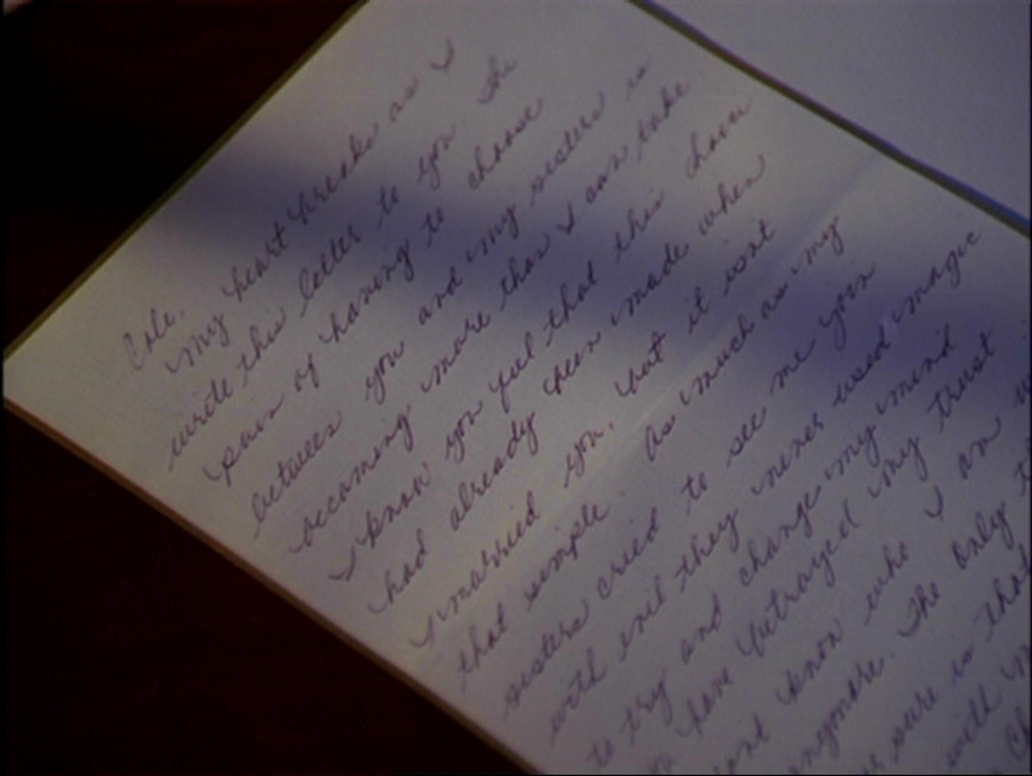 Phoebes Goodbye Letter to Cole Charmed – Goodbye Letter