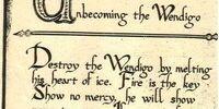Unbecoming the Wendigo