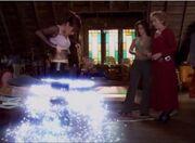 Phoebe transforming into Cinderella