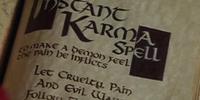 Instant Karma Spell