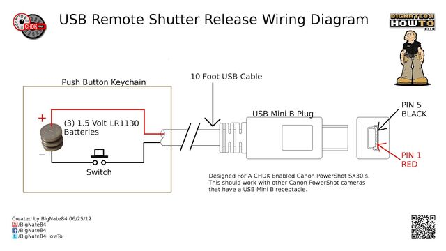 0001 USB Remote Shutter Wiring Diagram -1