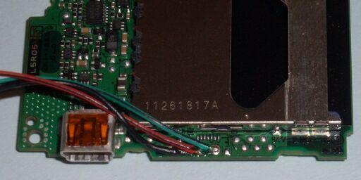 Canon IXUS750 UART