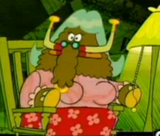 Gazpacho dressed as his mother