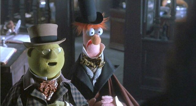File:Bunsen and Beaker as the poor collectors.jpg