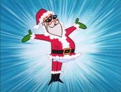 Dexter's Dad As Santa