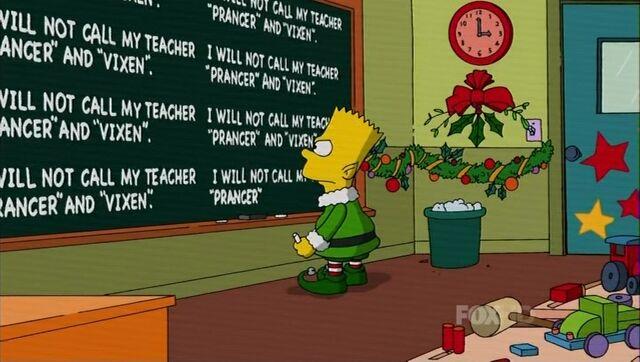 File:Bart's Christmas chalkboard gag.jpg