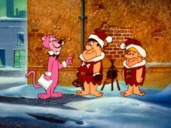 Fred and Barney in Yogis Xmas Caper