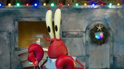 Mister Krabs in stop-motion