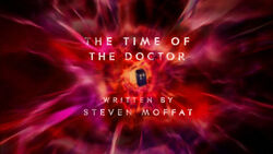 Doctor Who The Time of the Doctor Title Card