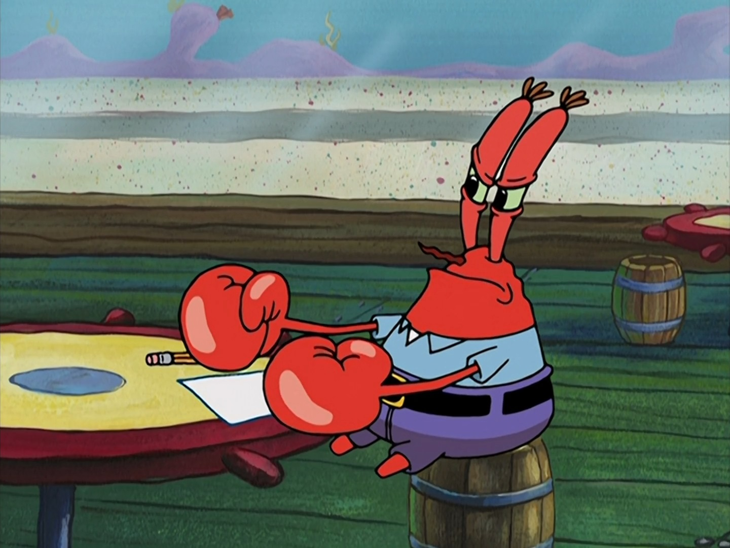 Spongebob Sitting Alone Mr. Krabs | Christmas ...
