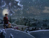 Miss Piggy Riding On Dogsled