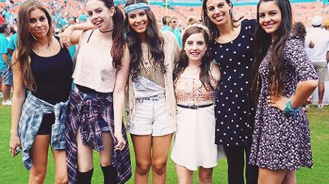 """Cimorelli Performing Their New Original Song """"I Got You"""" At The Miami Dolphins Halftime Show"""