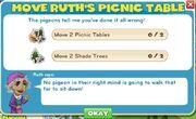 Move picnic tables goals