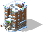 Apartment Complex snow