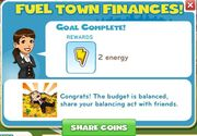 Fuel town finances reward