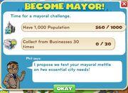 Become Mayor! goals