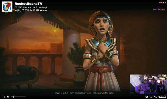 File:Civilization VI Cleopatra screenshot from RocketBeansTV stream.jpg