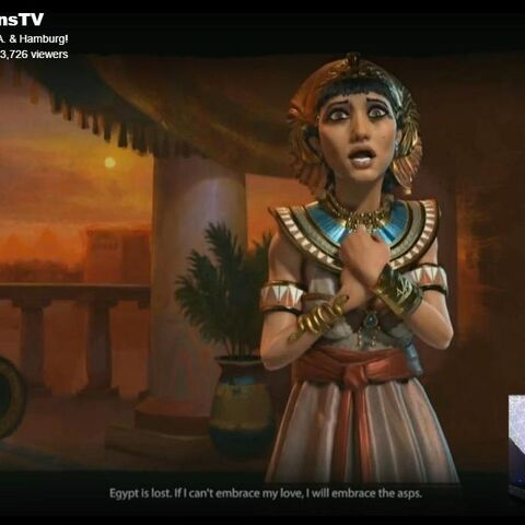 Cleopatra as she appears in a Twitch.TV video from E3