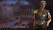 Steam trading card large Trajan (Civ6)