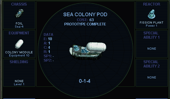 Sea colony pod (SMAC)