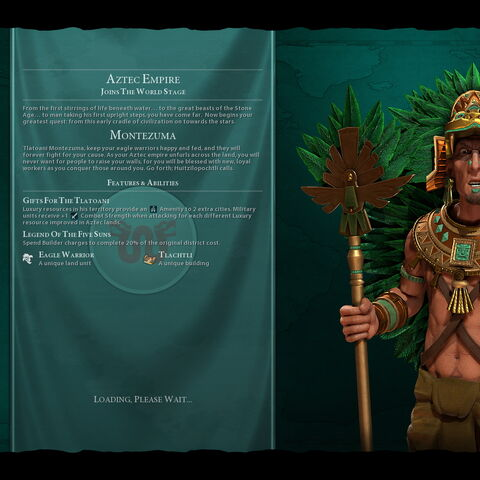 Montezuma on the loading screen