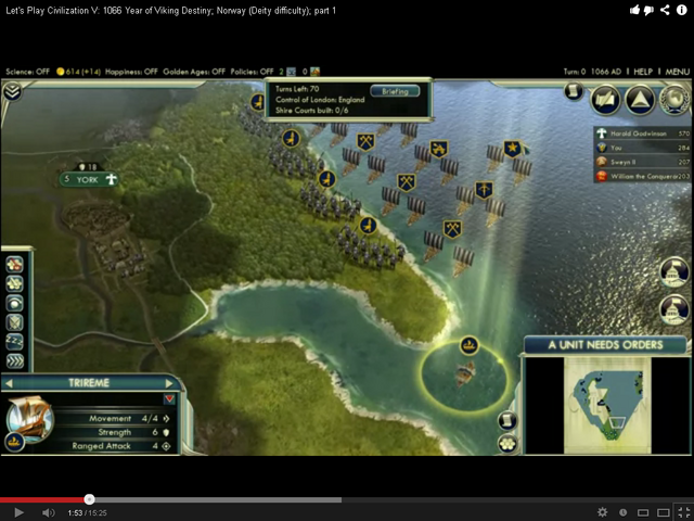 File:1066 Viking Scenario turn 1 (Civ5).png