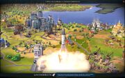 Launching Mars Reactor (Civ6)