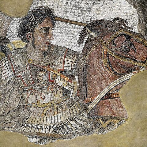 Mosaic of Alexander and Bucephalus
