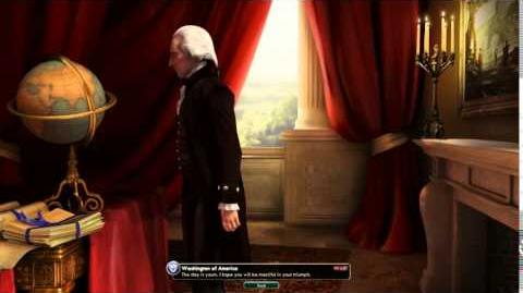 Civilization V Leader Washington of America Defeat