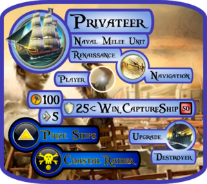 Privateer Info Card (Civ5)