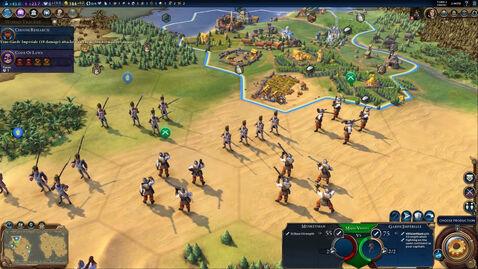 Civ6 Garde Imperiale in game