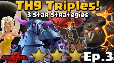 TH9 Triples 3! 3 Star Attack Strategies Clash of Clans