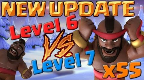 New 55 x Hog Rider Level 7 Vs Level 6 Hogs – CoC Christmas Update Clash of Clans