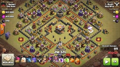 TH11 Ring Base 3 Star with CLONE SPELL How to 3 Star TH11 Ring Base Lavahounds & Bowler 3 Star