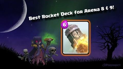 Best Rocket Deck in Arena 8 & 9!! ♥ Clash Royale