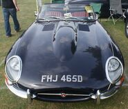 Jaguar e-type front view 3