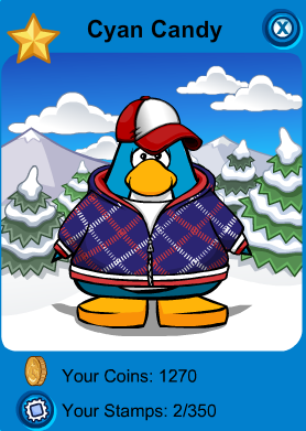 File:Club Penguin - Cyan Candy - Player Card.png